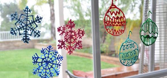 Copitos de nieve navideños