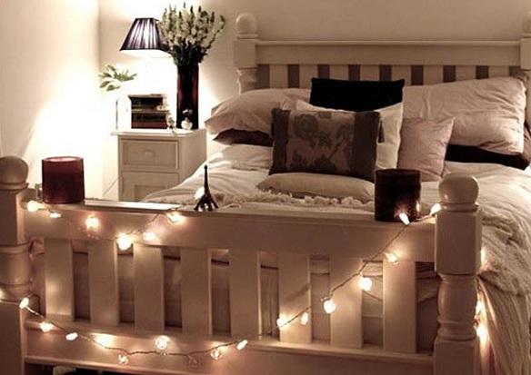 Luces navideñas dormitorio