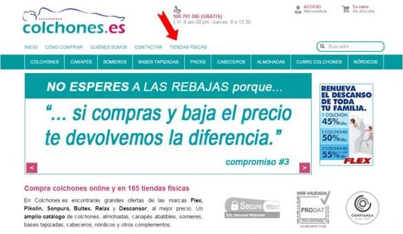Tiendas Físicas de Colchones.es