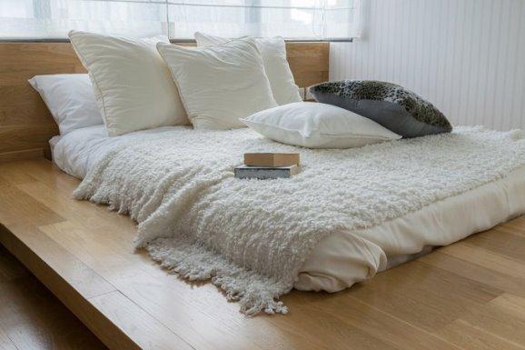 cama-habitación-estilo-zen Fuente: http://www.lavidalucida.com/