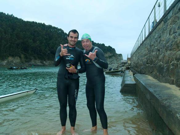 Alfredo Olabegoia y Aitor Ruiz triatletas