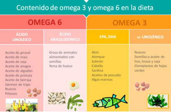 Alimentos con omega 3 y 6. Cenas ligeras