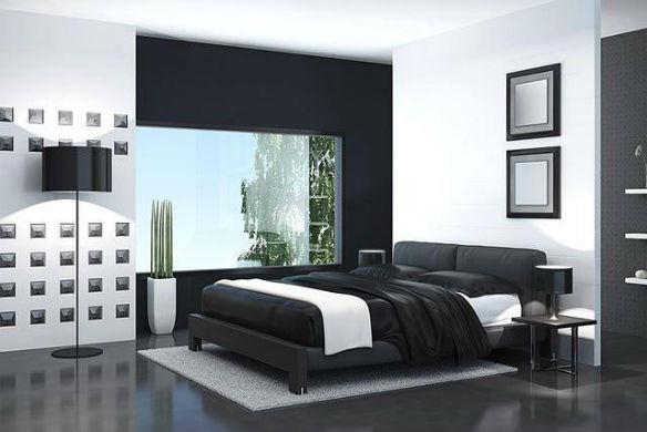 Dormitorios blancos, muebles negros: contraste y elegancia