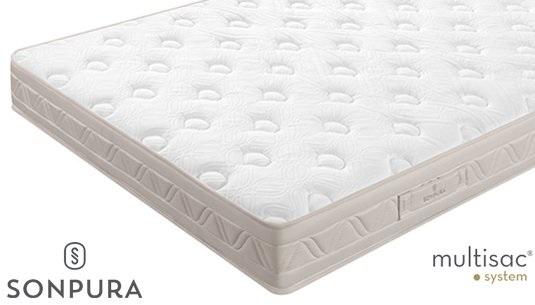 Nuevos diseños de colchones muelles ensacados catálogo Sonpura