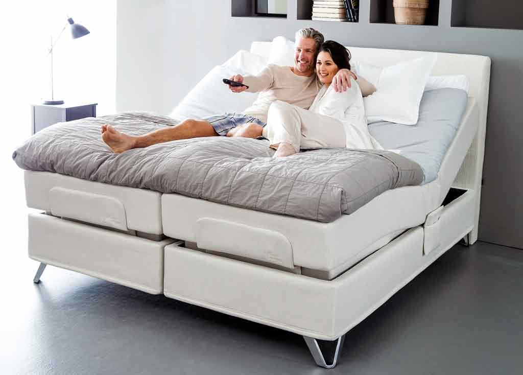 cama articulada eléctrica tapizada