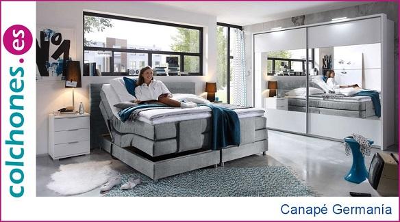 Canapé BoxSpring Germanía de Hukla, una cama King Size