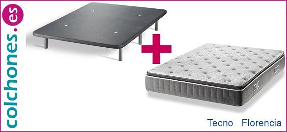 Packs de Hukla: colchón Tecno + base Florencia