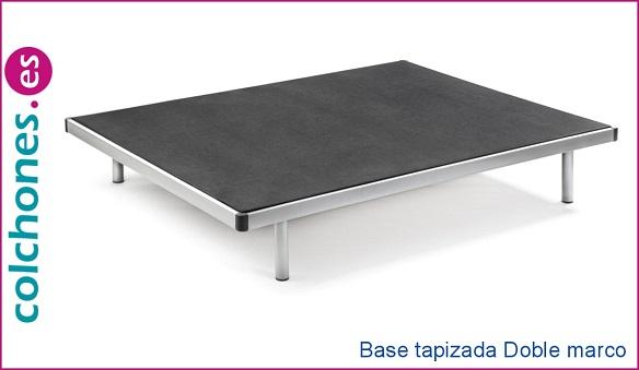 Base tapizada doble marco