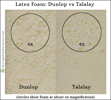 Diferencias látex Talalay látex Dunlop