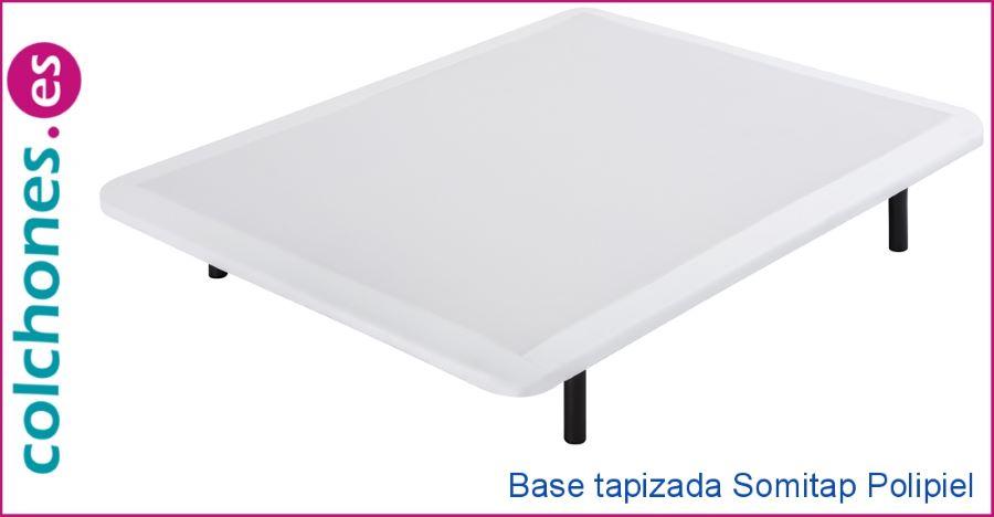 Una base tapizada con el marco tapizado en polipiel o tela